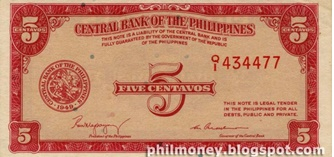 five peso bill
