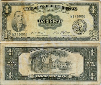 one peso bill